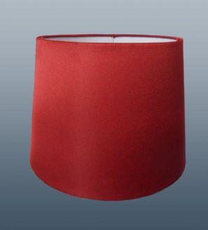 "10"" empire silk shade Cranberry"